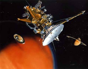 Cassini Mission to Saturn artist rendition